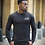 Thumbnail: Ahead Of Time - Black Fitted Long-sleeved T-shirts
