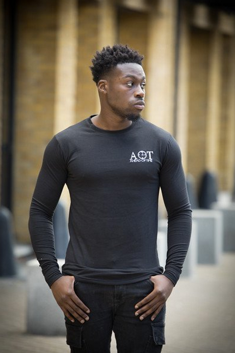 Ahead Of Time - Black Fitted Long-sleeved T-shirts