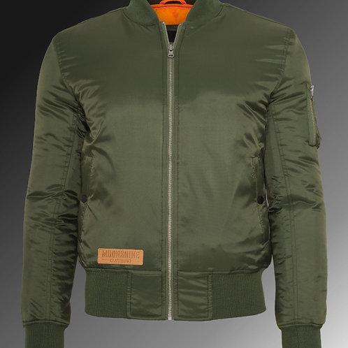 Moonshine - Olive Bomber Jacket