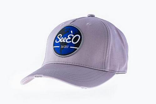 SeeÈO - Grey Distressed Baseball Cap
