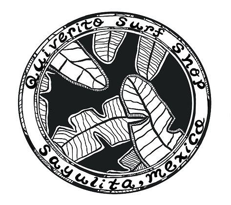 Palm Tree Sticker Sayulita Mexico Surf shop