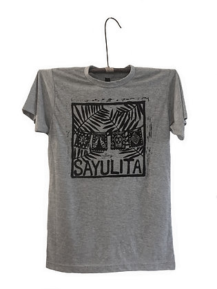 Block Printed T- Shirt Sayulita Flags