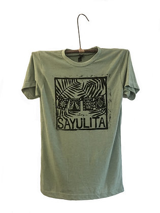 Palm Tree Design Block printed T-shirt Sayulita