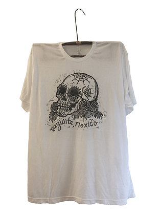 T Shirt Printed with Sugar Skull Calavera