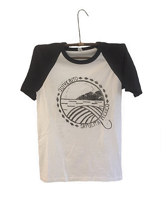 Retro T-Shirt Block Printed with Sayulita Design