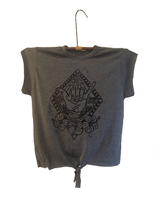 Shaka Crop Top with tie s/m