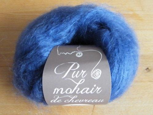 "Pelote pur Mohair ""Bleu Pacifique"""