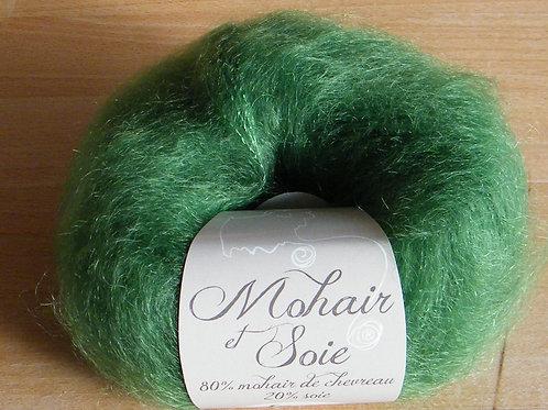 "Pelote Mohair et soie ""Avocat"""