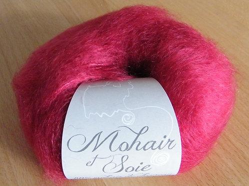 """Pelote Mohair et Soie """"Rubis"""""""