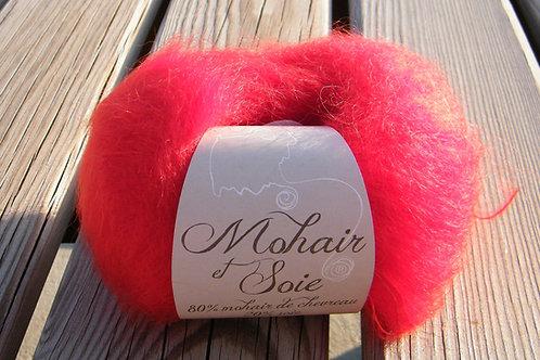 """Pelote Mohair et Soie """"Rouge écarlate"""""""