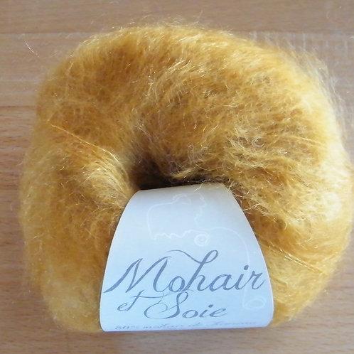 """Pelote Mohair et soie """"Moutarde"""""""