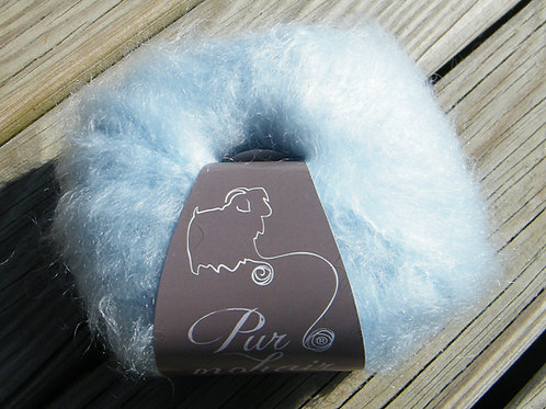 """Pelote pur Mohair """"Bleu ciel"""""""