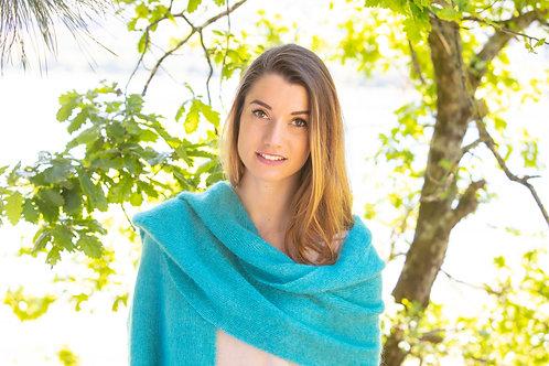 """Grande écharpe tricotée """" Menthe"""""""