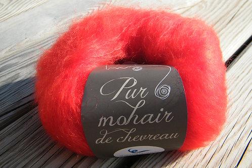"""Pelote pur Mohair """"Rouge écarlate"""""""