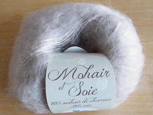 """Pelote Mohair et soie """"Grège"""""""