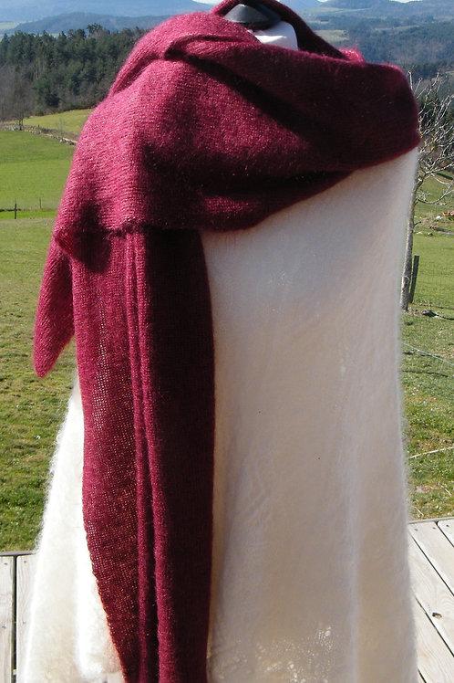 """Grande écharpe tricotée """" Beaujolais"""""""