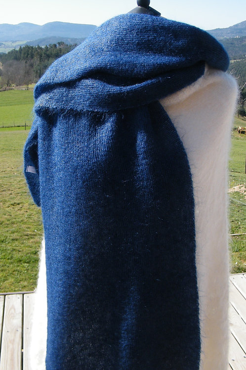"Grande écharpe tricotée ""Cobalt"""