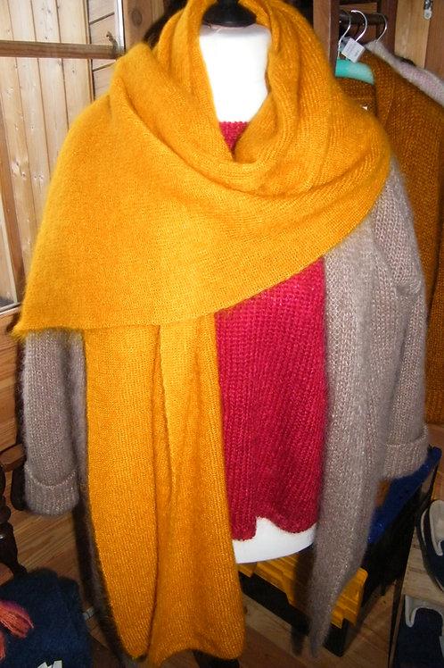 """Grande écharpe tricotée """" Maïs"""""""