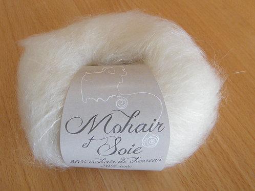 "Pelote Mohair et Soie ""Ecru"""