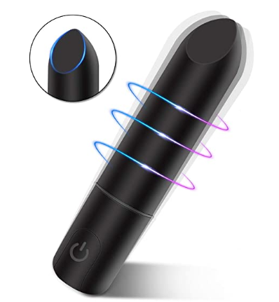 A Female Sex Toy Vibrator that has an angled tip to hit that clitoris good