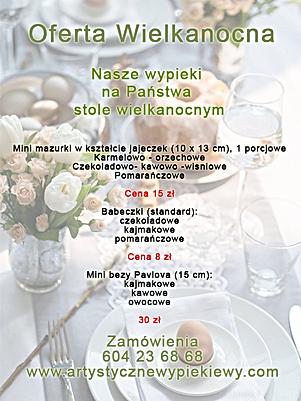 Oferta ciast na Wielkanoc