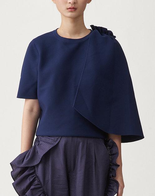Asymmetric Sleeve Knit Top