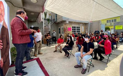 Armando Quintero propone recuperación de espacios para su campaña de reelección en Iztacalco