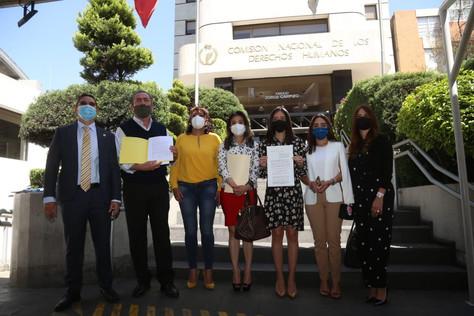 Diputados del PRD presentan queja ante CNDH por violaciones a los DDHH de Rogelio Franco