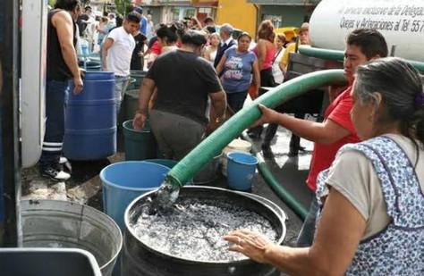 Inicia reducción de suministro de agua en la  CDMX.