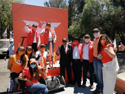 Movimiento Ciudadano inicia campaña con recorrido por las 16 alcaldías