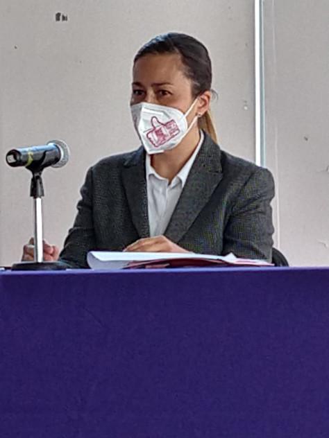 Mariana Morán, presidenta del partido Elige, entregó la plataforma electoral al IECM