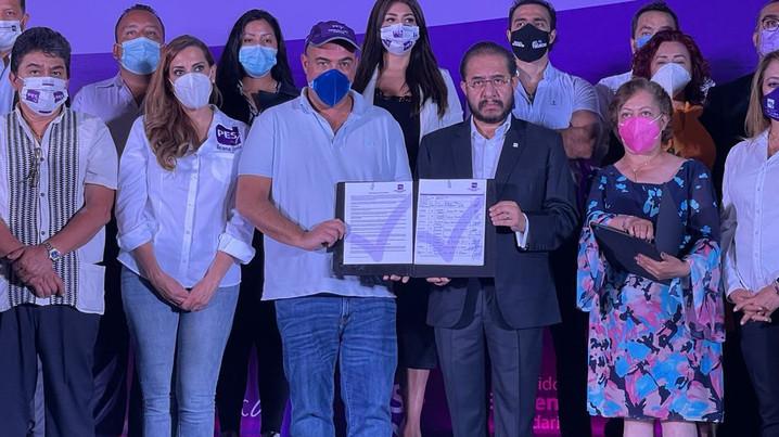Candidatos del PES, en todo el país, firman el compromiso por la vida