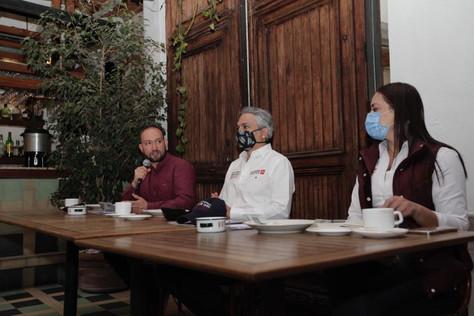 Candidatas y candidatos de Morena en la alcaldía Cuauhtémoc presentaron sus compromisos de campaña.