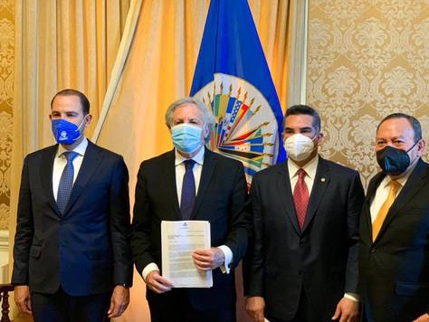 """DIRIGENTES DE """"VA POR MÉXICO"""" ACUDIERON A LA OEA, EN DEFENSA DE LA DEMOCRACIA."""