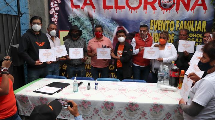 Candidatos de MC propone rescatar tradiciones de Iztapalapa.
