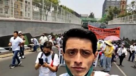 Decepcionados de la 4T marcharon ayer en apoyo a Diana Sánchez Barrios