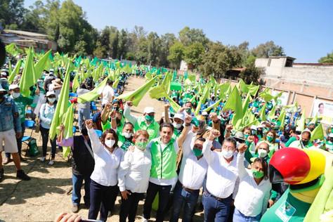 El Partido Verde en la CDMX, inició sus campañas electorales mostrando fuerza en la capital