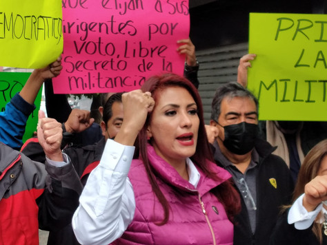 Alejandro Moreno llegó al PRI, para acabar con el PRI, denunció Nallely Gutiérrez