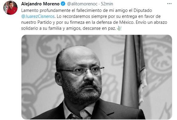 """""""RENÉ JUÁREZ, UN HOMBRE DE TRABAJO Y AMOR POR MÉXICO"""": PRI"""