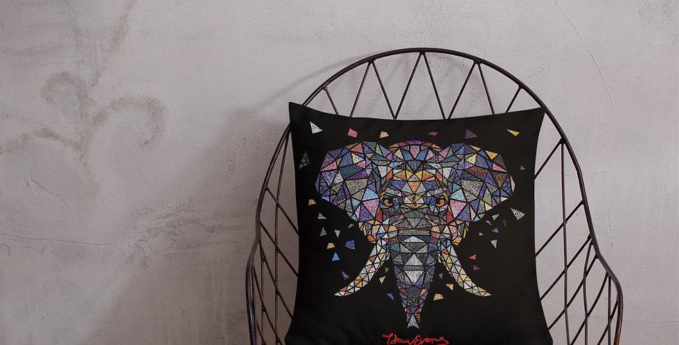 ज्यामितीय हाथी प्रीमियम लाउंज तकिया