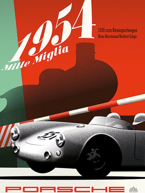 Mille Miglia 1954 Porsche 550