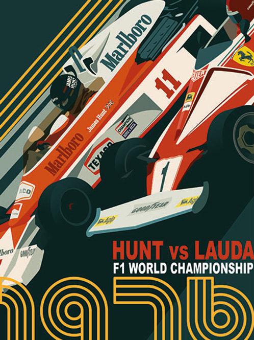 Hunt vs Lauda PRINT