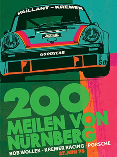 Kremer Porsche Norisring 1976 934 PRINT