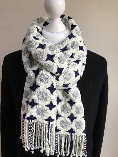 Circles and Stars Merino scarf