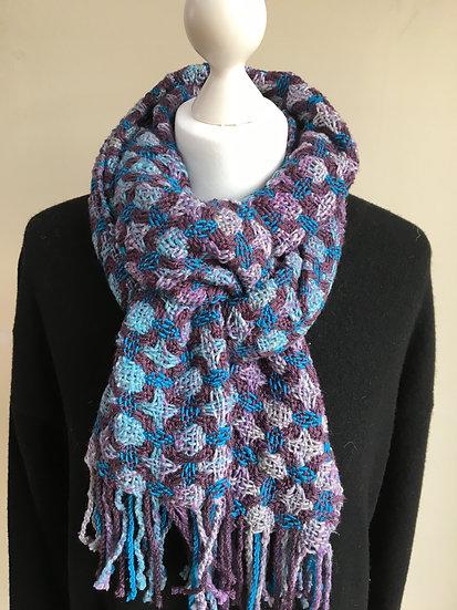 Circles and Stars Purple scarf