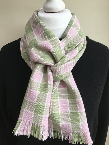 Pink & Green Scarf