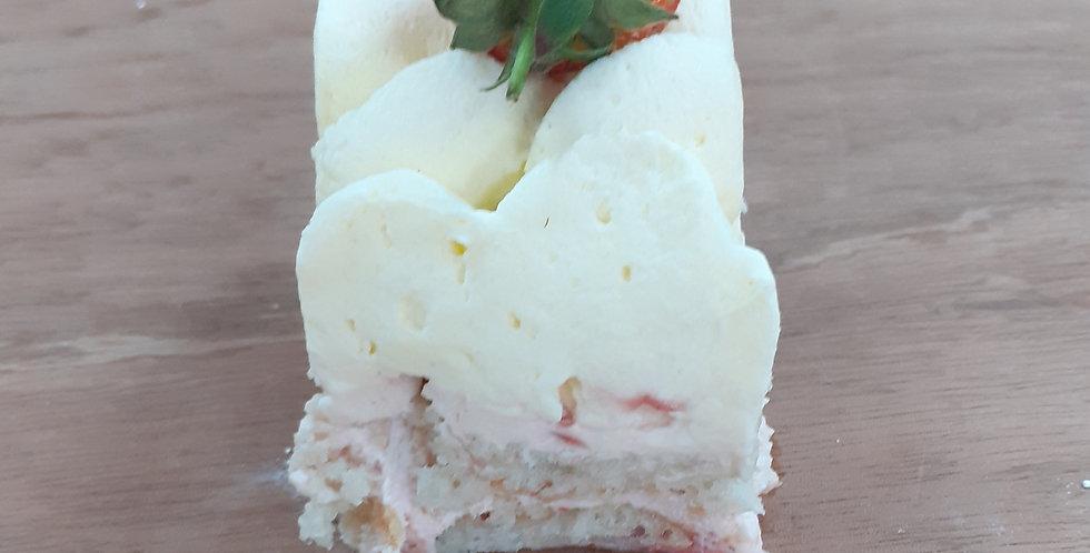 Strawberry Sponge Cake Slice