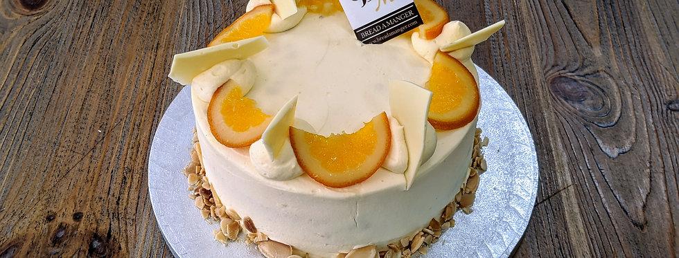 White Orange Sponge Cake