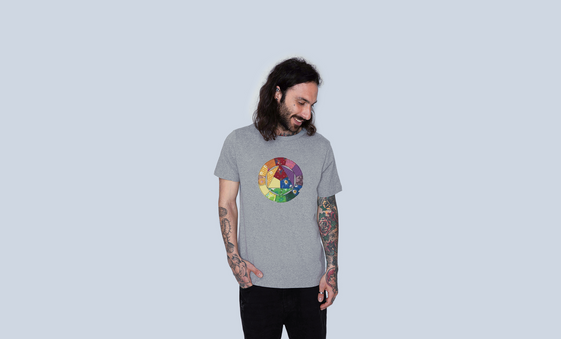 Organic Colour Wheel - Unisex Tee