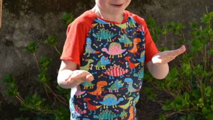 t-shirt dinosaures en coton jersey bio